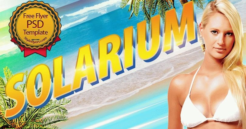 Solarium PSD Flyer Template