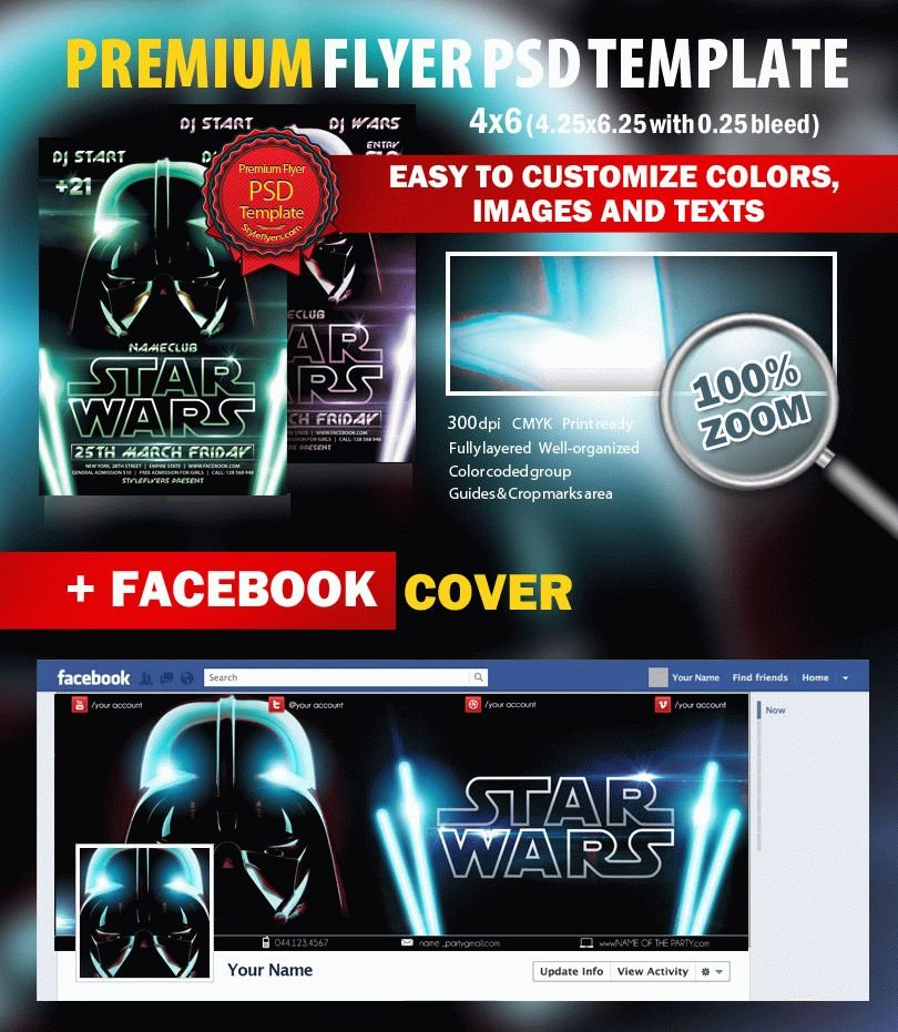 Star Wars PSD Flyer Template