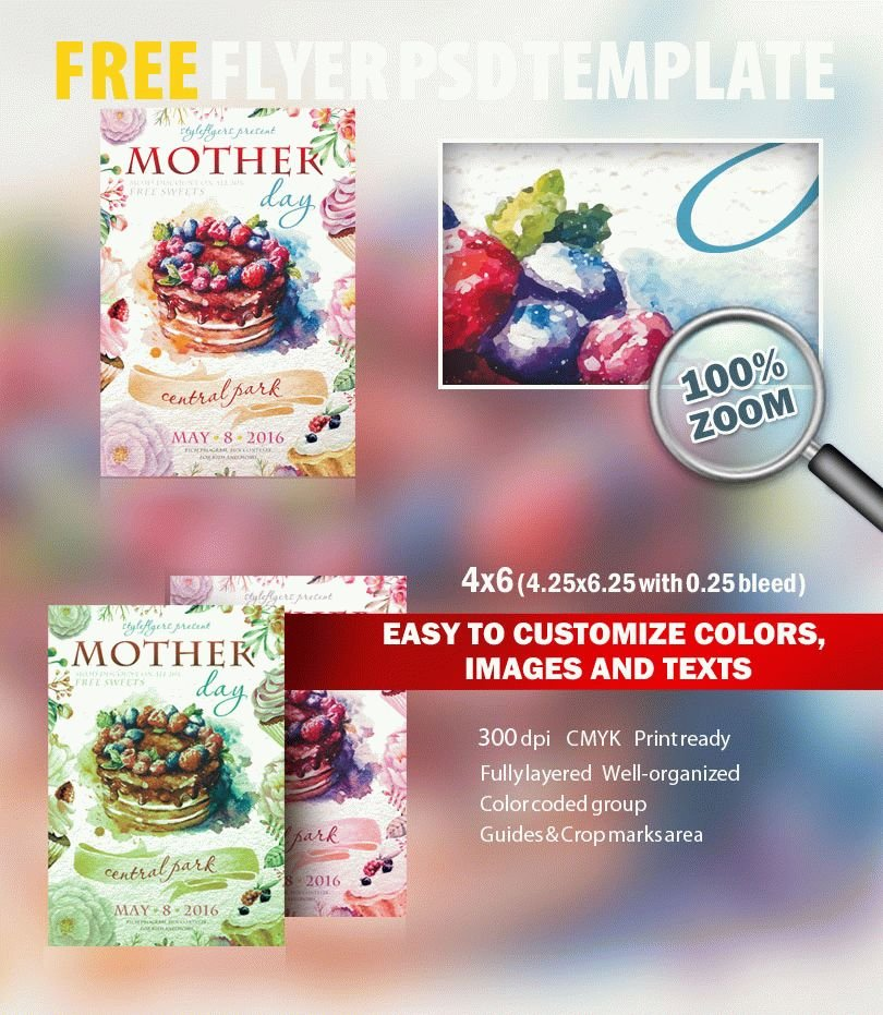 Mothers Day Sale Flyer Psd Template: Mother Day PSD Flyer Template Free Download #6988