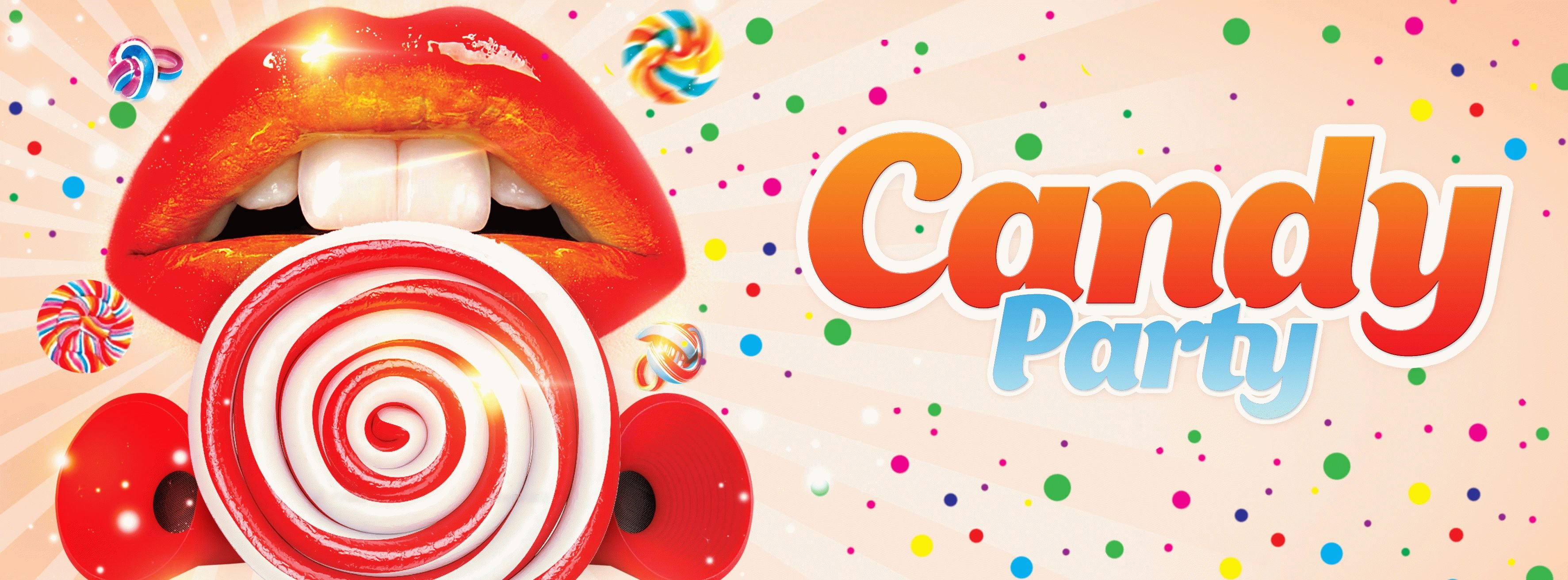 Candy Party PSD Flyer Template