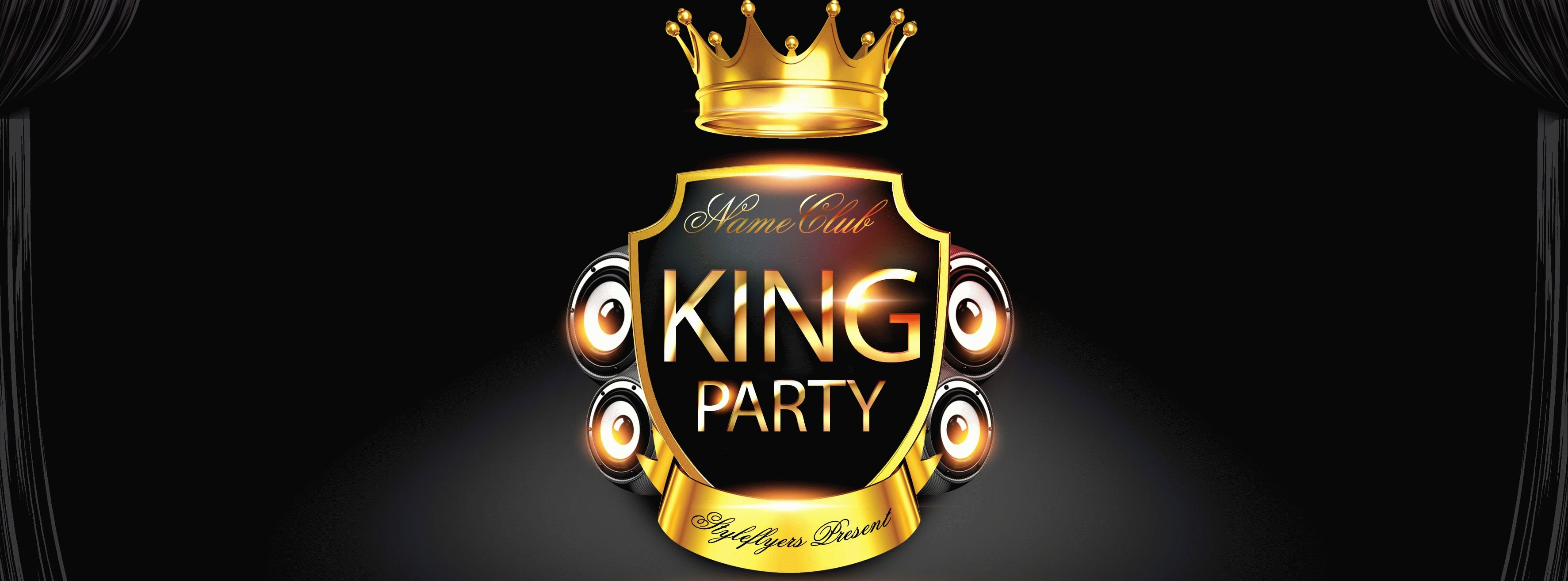 King Party PSD Flyer Template