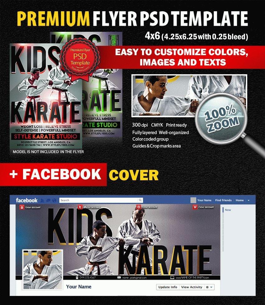 Kids Karate PSD Flyer Template