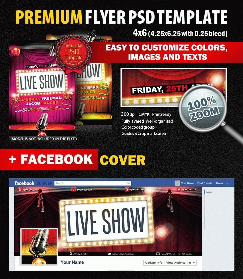 Live Show PSD Flyer Template