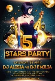 5-stars-party-PSD-Flyer-Template