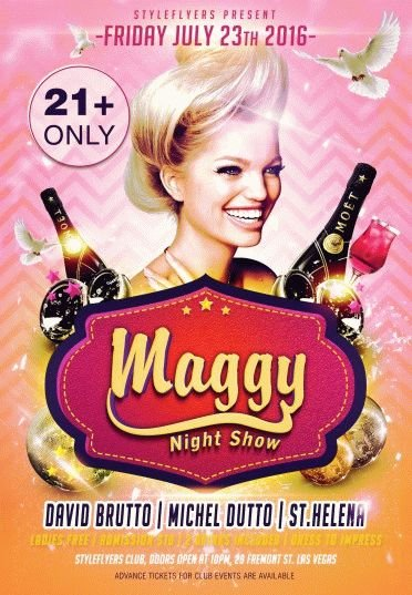 Maggy Show PSD Flyer Template