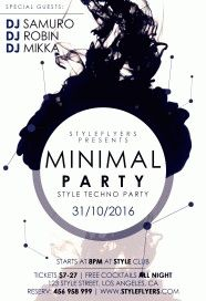 Minimal party PSD Flyer Template