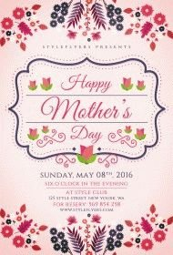 Mother's Day PSD Flyer Template