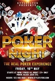 Poker Night PSD Flyer Template