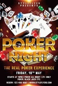 Poker Night PSD Flyer Template
