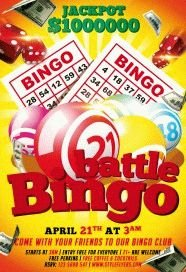 bingo battle PSD Flyer Template