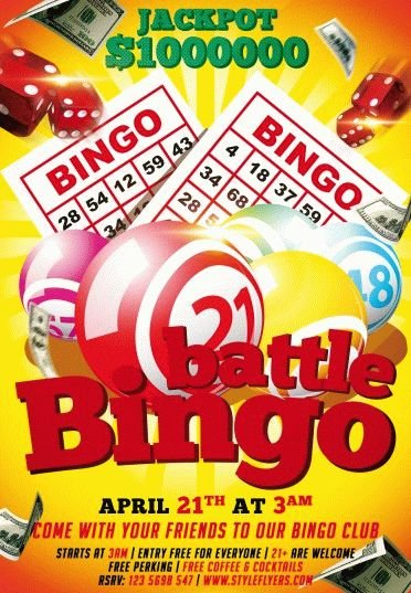 Bingo Battle Psd Flyer Template 7443 Styleflyers