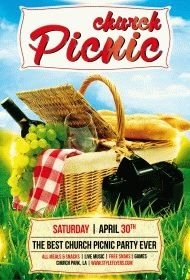 church picnic PSD Flyer Template