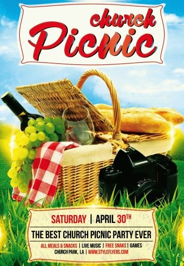 Church Picnic Psd Flyer Template   Styleflyers