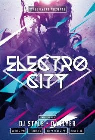 electro city PSD Flyer Template