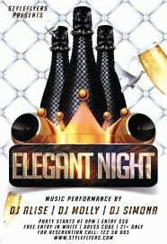 elegant nightPSD Flyer Template