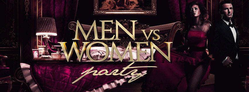 Men vs Women Party PSD Flyer Template