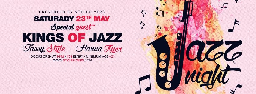 Jazz Night PSD Flyer Template