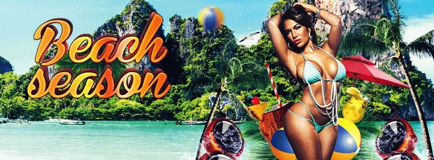 Beach Season  PSD Flyer Template