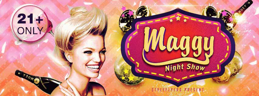 Maggy Night Show PSD Flyer Template