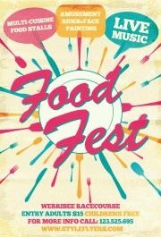 food fest PSD Flyer Template
