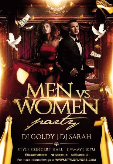 men-vs-women-PSD-Flyer-Template