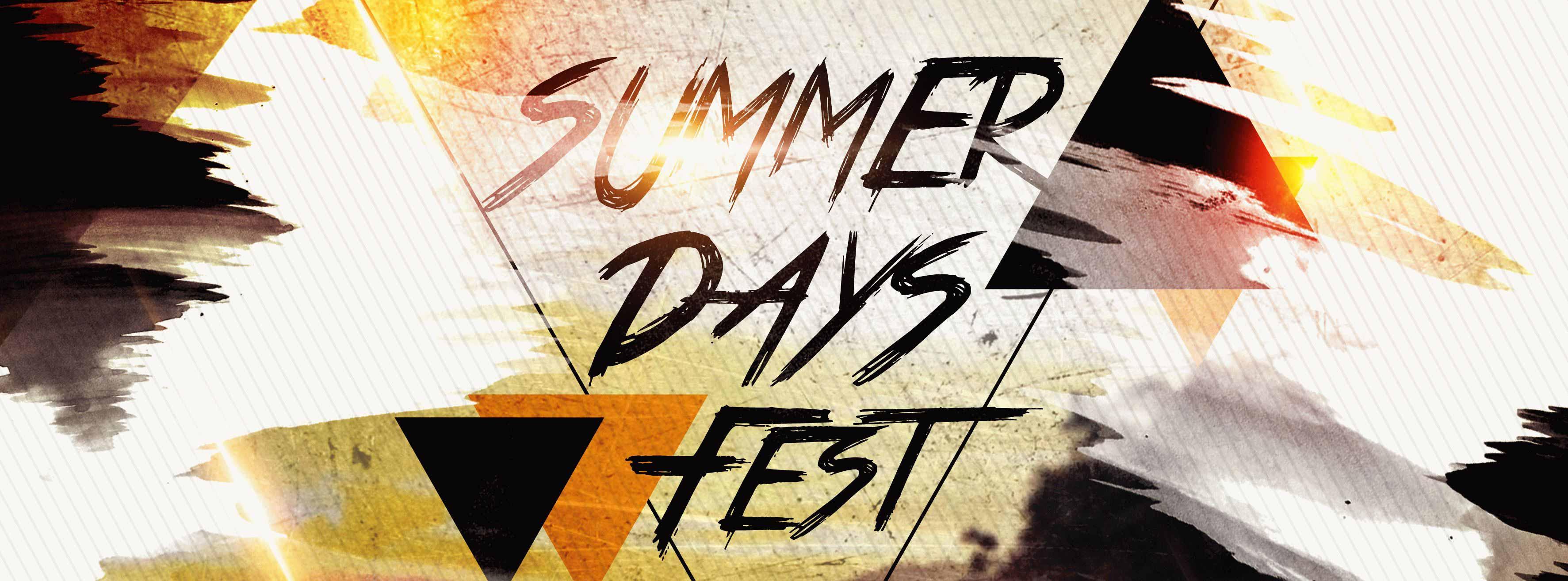 Summer Days Fest PSD Flyer Template