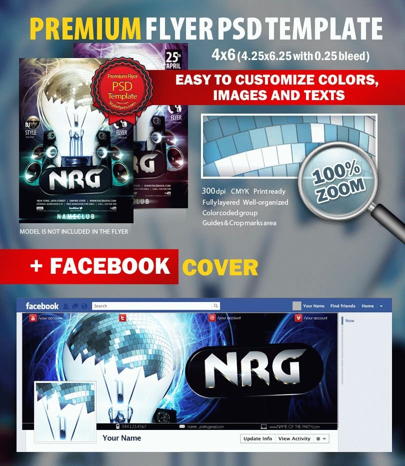 NRG Party PSD Flyer Template