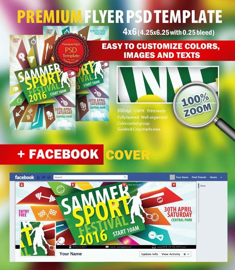 Sammer Sport Festival PSD Flyer Template