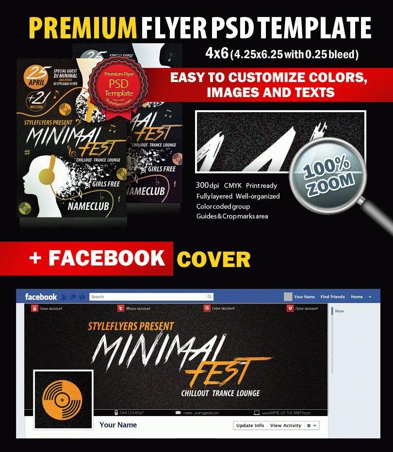 Minimal Fest PSD Flyer Template