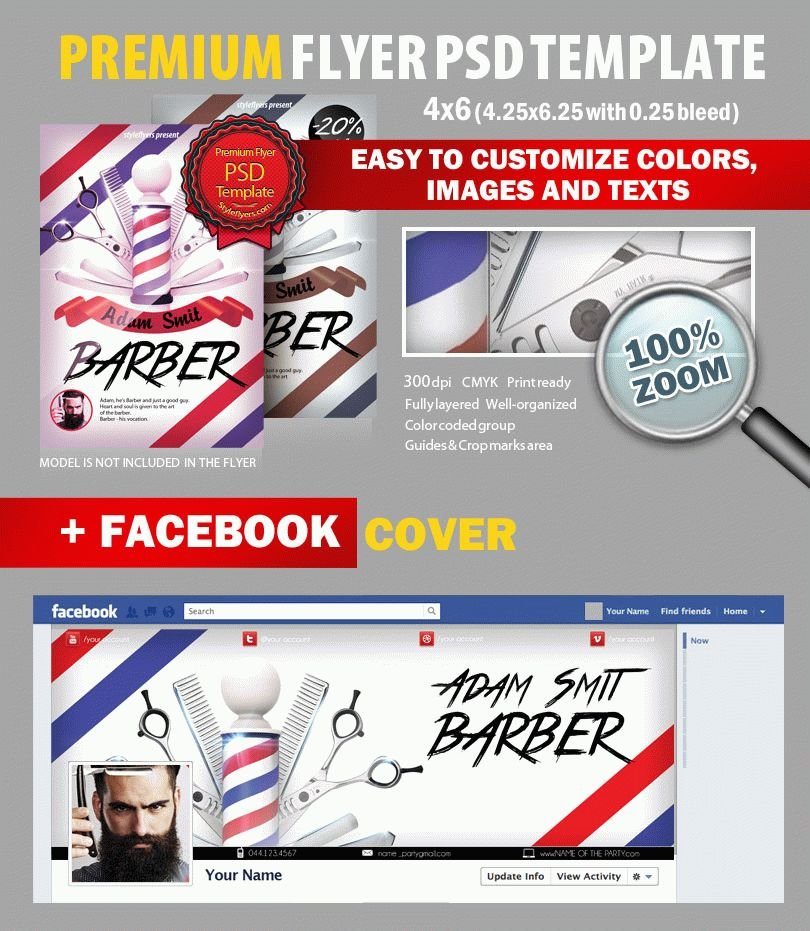 Barber PSD Flyer Template