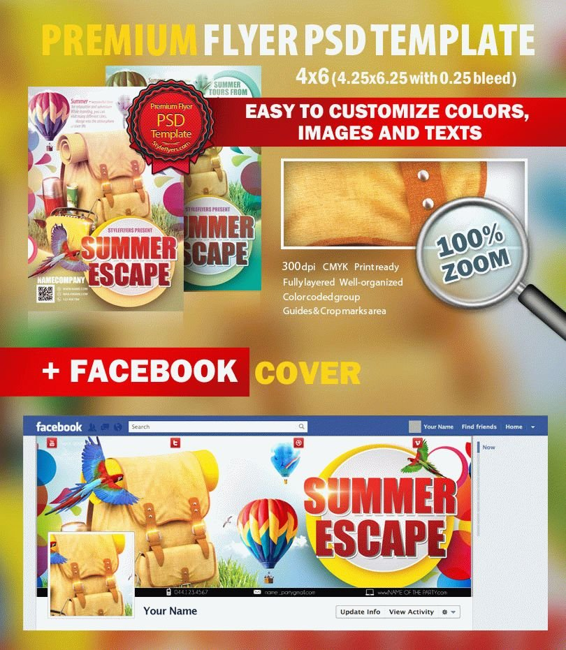 Summer Escape Psd Flyer Template #7372 - Styleflyers
