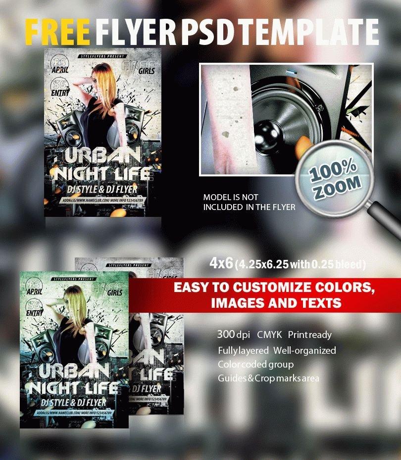 Urban Night Life PSD Flyer Template