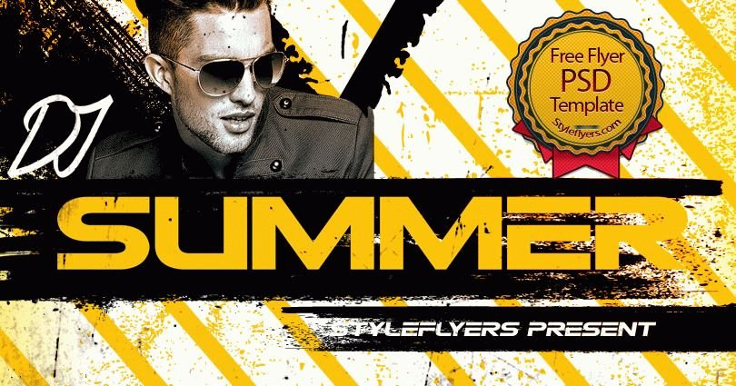 Dj Summer PSD Flyer Template