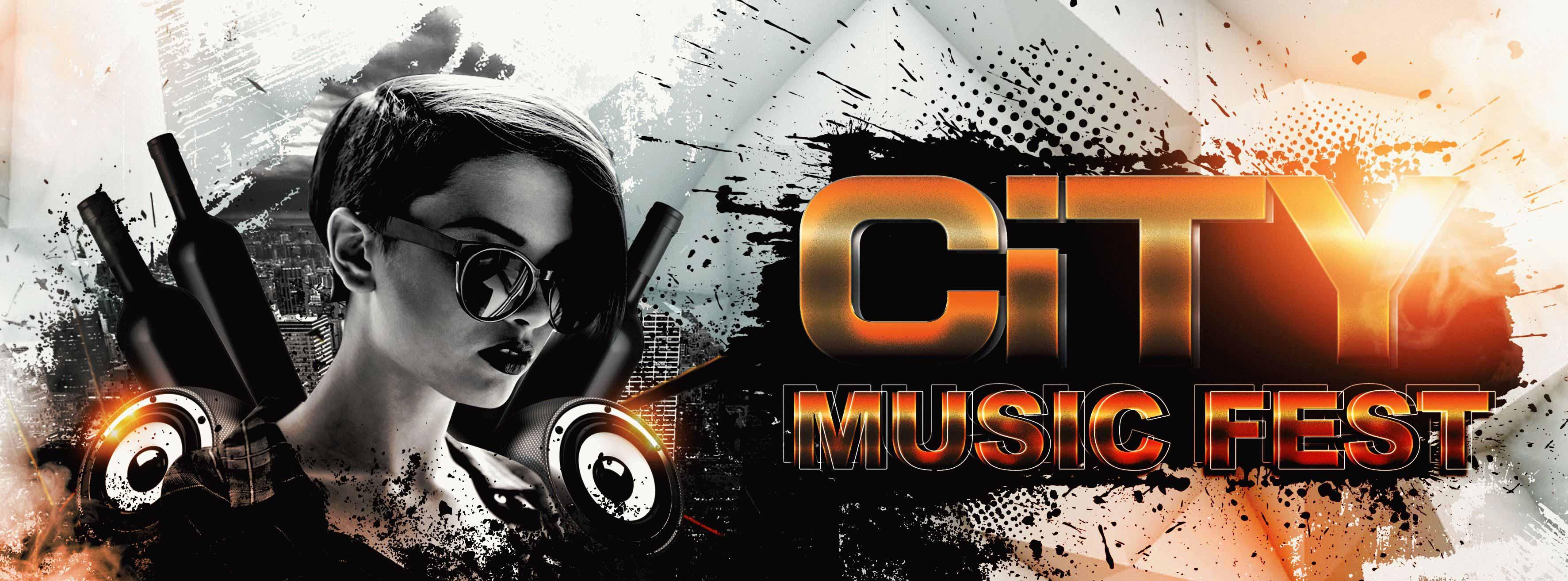 City Music Fest PSD Flyer Template