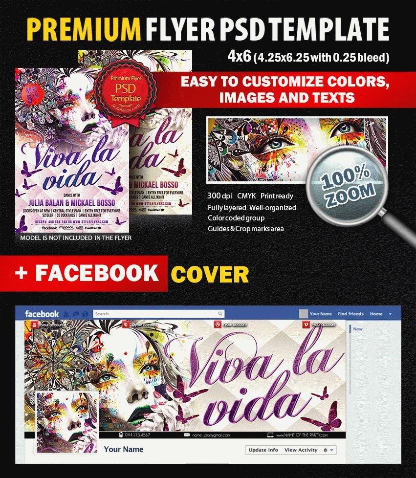 Viva la vida PSD Flyer Template