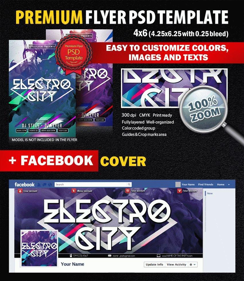 Electro City PSD Flyer Template