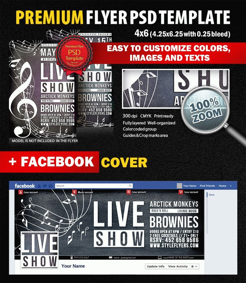 Live Show PSD Flyer Template