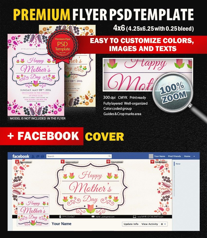 Mother's Day PSD Flyer Template #7355