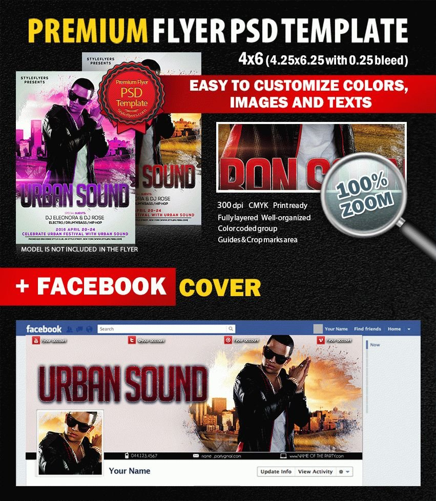 Urban Sound PSD Flyer Template