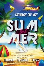 summer fest PSD Flyer Template