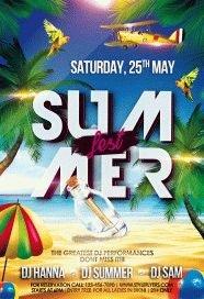 summer fest PSD Flyer Template