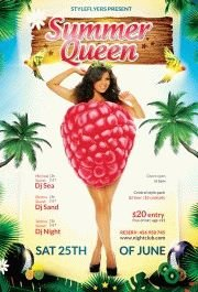 summer queen PSD Flyer Template