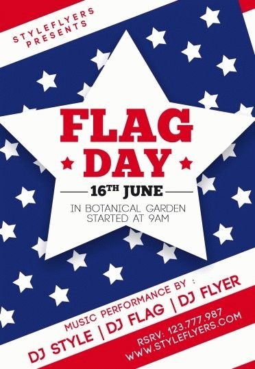 Flag-Day-PSD-Flyer-Template