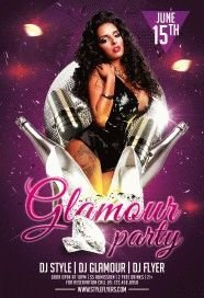 Glamour-Party-PSD-Flyer-Template