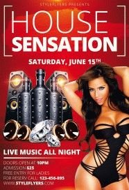 House Sensation PSD Flyer Template
