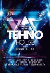 Tehno-House-PSD-Flyer-Template