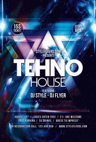Tehno-House-PSD-Flyer-Template