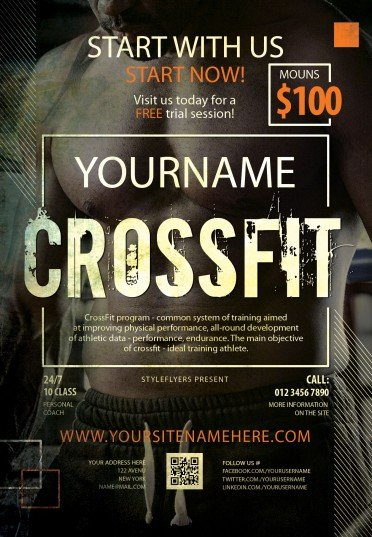 Crossfit PSD Flyer Template