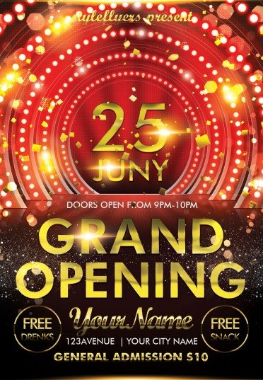 Grand Opening Psd Flyer Template #8279 - Styleflyers
