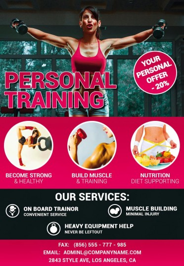 Personal Training Psd Flyer Template 8298 Styleflyers